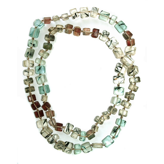 Long Resin Cubes Necklace (ORDER)