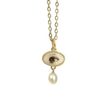EYE Photo Pendant/Small/Oval/ (ORDER)