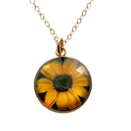 Sunflower Droplet Pendant