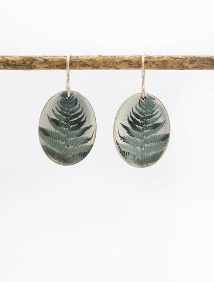 Fern Photo Earrings (IN STOCK) sterling silver