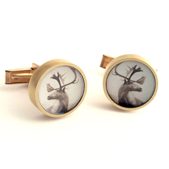 Elk Cufflinks/Bronze or Sterling Silver (made to order)