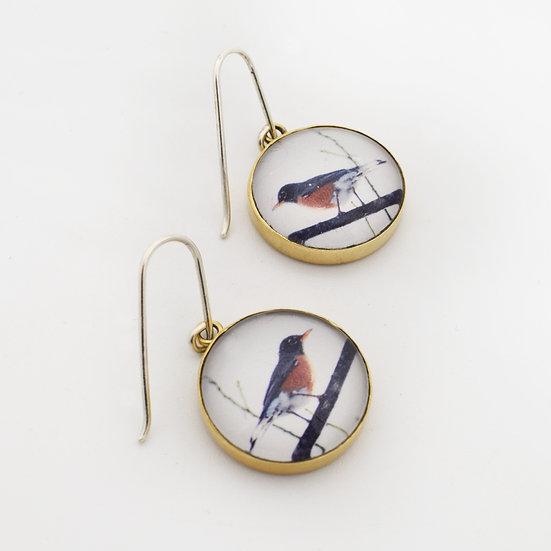 Robin Photo Earrings/Brass  (in stock)