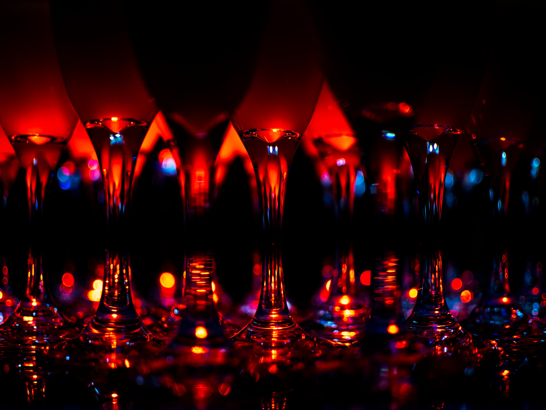Champaigne Glass Close-up