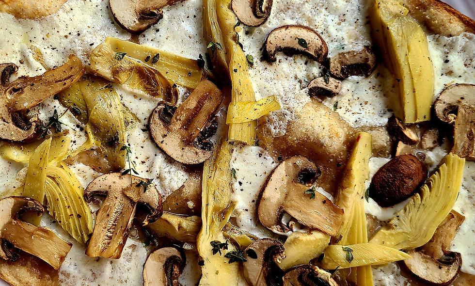Mushroom & Artichoke Hearts Take N Bake Pizzas TWO (fully assembled)