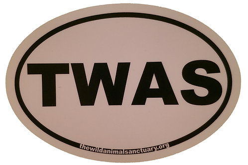 TWAS Oval Window Sticker