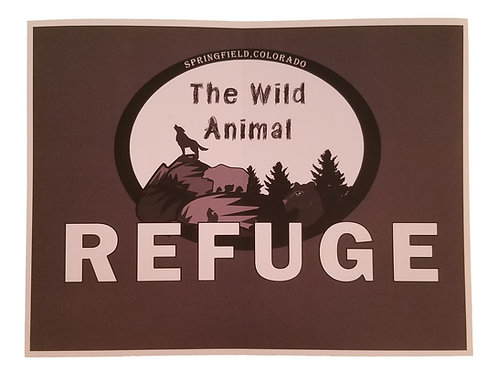 The Wild Animal Refuge Window Sticker