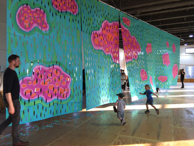 HEART OF THE MATTER site specific art installation NYC Climate week 2019