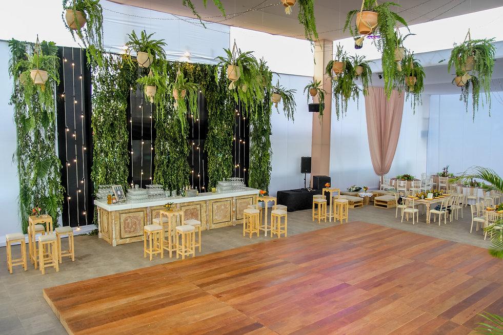decoracion boda tropical