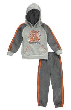 Big Slam 2-Piece Fleece Sweatsuit (Size 3T)