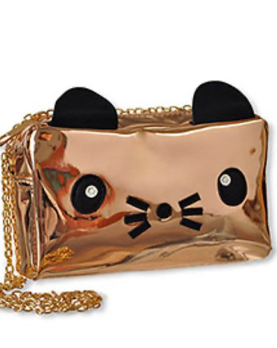 METAL KITTY CROSSBODY PURSE