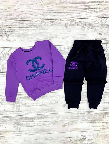 Girls' Chanel Sweat Suit