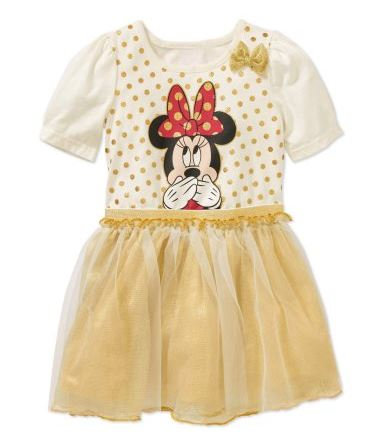 Minnie Mouse Toddler Girl Tutu Dress with 3D Bow (Size 3T)