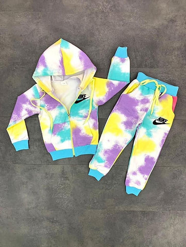 Girls NIKE Tie Dye Jogger 2pc Set