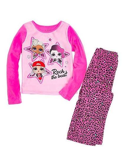L.O.L. Surprise Girls 2 Piece Fleece Pajama Set