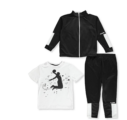 RBX Boys' 3-Piece Tracksuit Pants Set