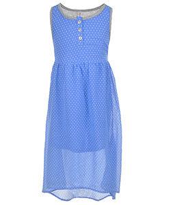 """""""JERSEY-BACKED CHIFFON"""" DRESS (Size 7/8)"""