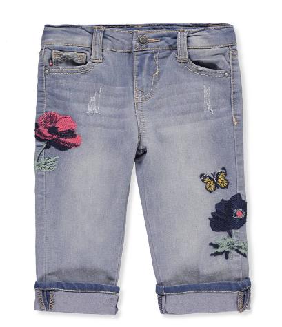 Vigoss Girls' Cropped Skinny Jeans (Size 3T)
