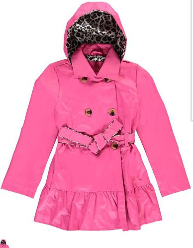 Pink Platinum Toddler Girls' Classic Trench with Satin Lining