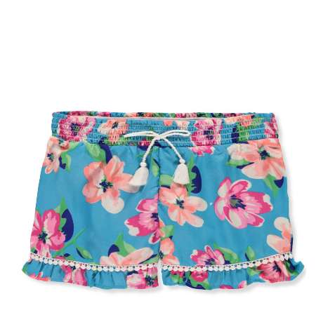 Real Love  Girls' Shorts (Colors: Coral & Turquoise)