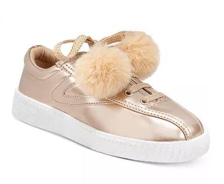 Tretorn Little Girls Nylite Pom Pom Sneakers
