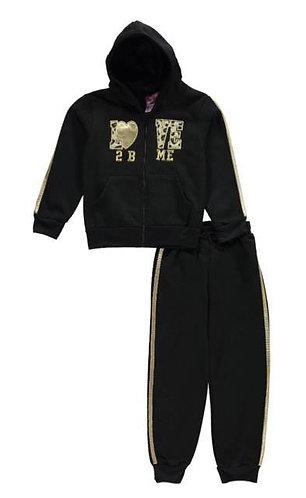 2pc Love 2 B Me Sweatsuits (Fuchsia/Black/Gray/Pink/Mint) (Size 4)