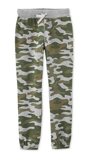 Boys Carter's Camo-Print Fleece Jogger Pants