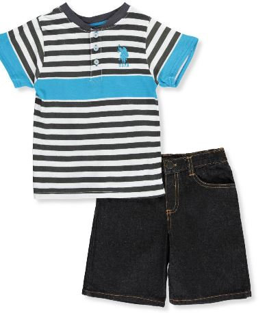 U.S. Polo Assn. 2pc Boys Short Set