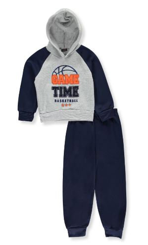 2-Piece Fleece Sweatsuit (Sizes 8, 10/12)