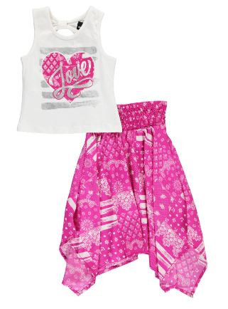 """LOVE BRUSHSTROKE"" 2-PIECE OUTFIT (Size 6x)"