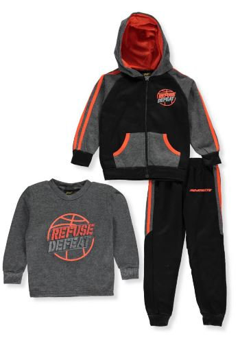 Boys Pro Athlete Refuse Defeat 3-pc Sweatsuit (Size 4T)