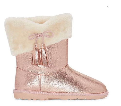 Girls Anna Flat Heel Winter Boots (Sizes1M-4M)
