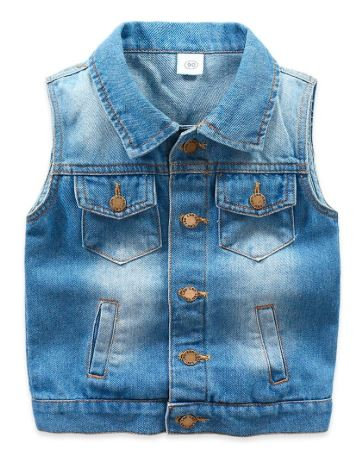 Trendy Toddler Big Boy Denim Vest