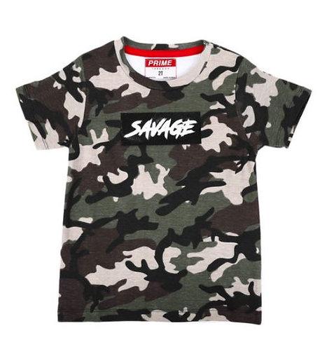 Savage Camo Print T-Shirt