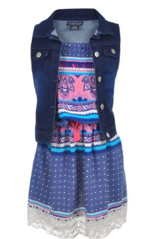 """BIG GIRLS' """"TROPIC COOL"""" 2-PIECE OUTFIT (Size 8/10)"""