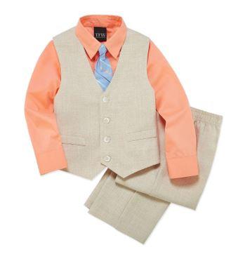 TFW 4-pc Woven Vest Set Boys (Size 6)