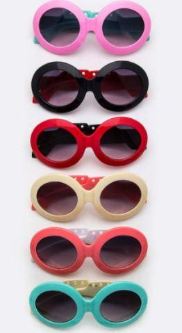 2 Tone Oval Sunglasses