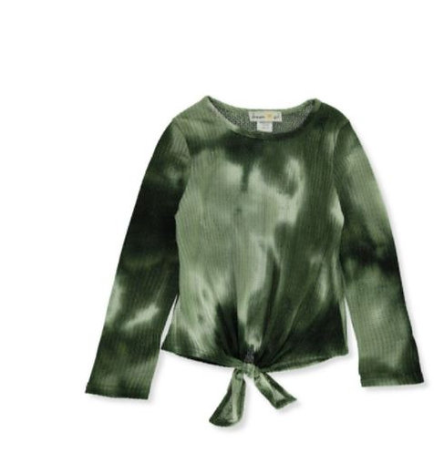 GIRLS' L/S TIE-DYE KNIT TOP (3 Colors Available)
