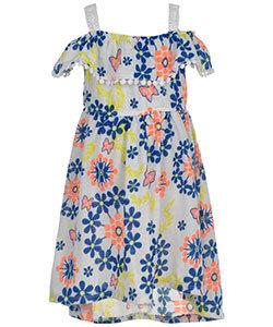 "LITTLE GIRLS' ""PINWHEEL FLORA"" COLD SHOULDER DRESS (Size 5)"