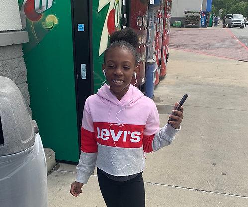 Levi's Girls Color Block Crop Hoodie