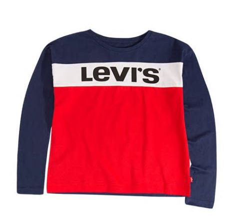 Levi's® Girls Long Sleeve Dropped Shoulder T-Shirt