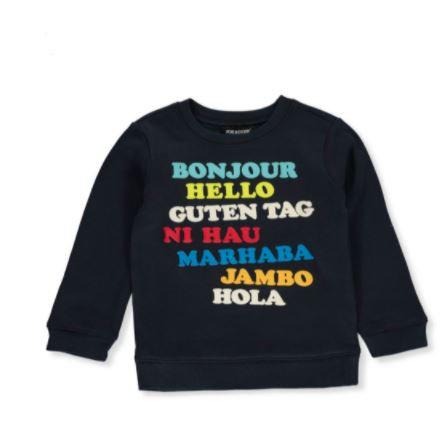 Boys' Hello Pullover Sweater