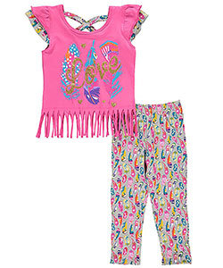 """""""FEATHERS & FRINGE"""" 2-PIECE OUTFIT (Size 6x)"""