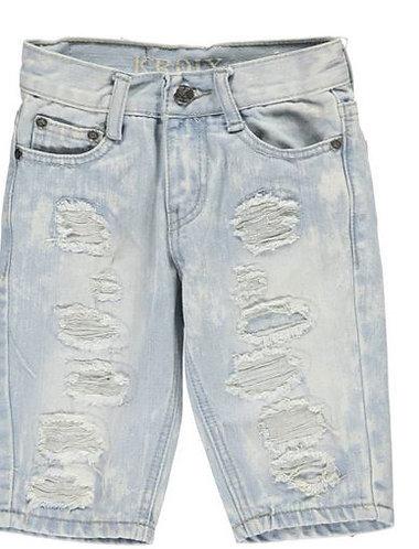 Boys Denim Shorts (Colors: Black and Blue)