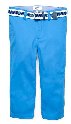 Boys Belted Twill Pants (Size 7)