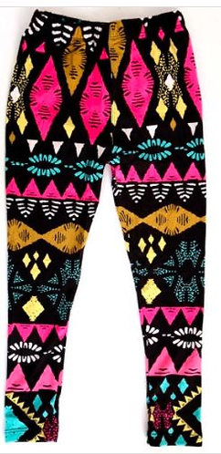Girls Tribal Print Leggings