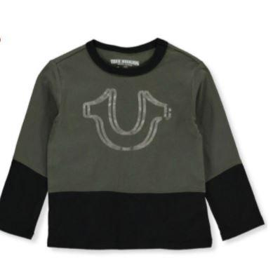 True Religion Boys' Paneled L/S T-Shirt