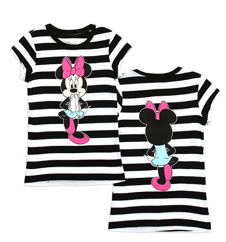 MINNIE MOUSE Front/Back Print T-Shirt