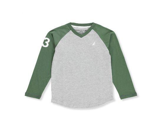 Nautica Boys' L/S V-Neck T-Shirt