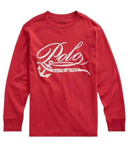 Ralph Lauren Boys Cotton Jersey Graphic Tee