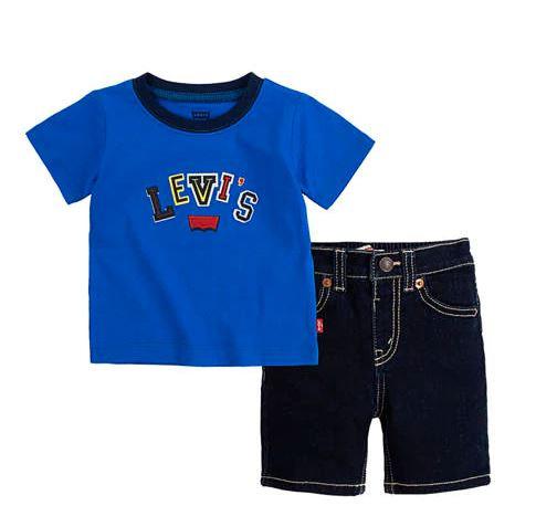 Baby Boys 2 Piece Denim Shorts Set (12-24 months)